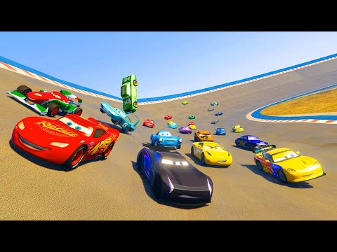 Thumbnail: Race Cars McQueen Jackson Storm Cruz Ramirez Francesco The King Chick Hicks and Friends & Songs
