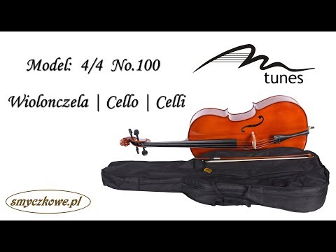 Cello 4/4 M-tunes No.100 hölzern - spielbereit Video