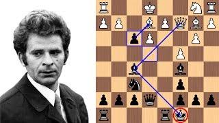 Boris Spassky's 17-move crush of Bent Larsen's 1.b3