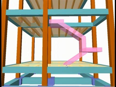 C mo hacer una escalera de hormig n en cypecad youtube for Como hacer una escalera de hormigon