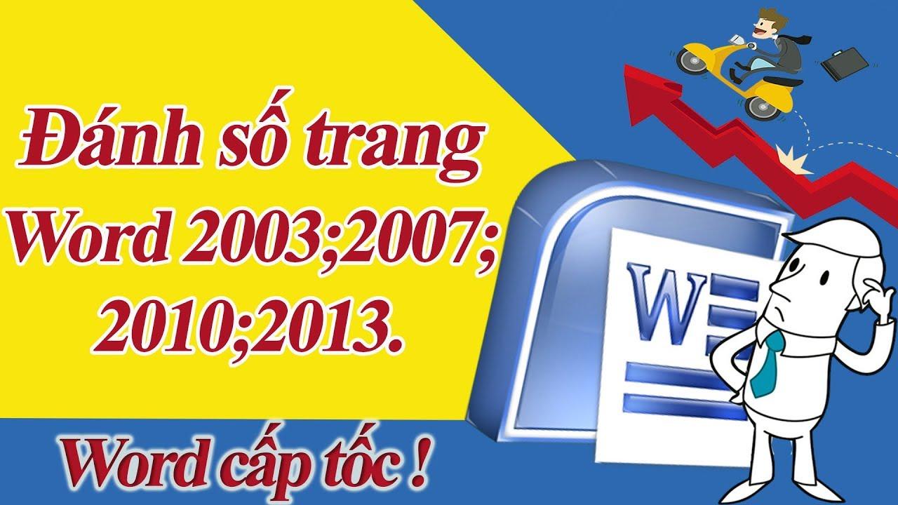 cách đánh số trang trong word 2013,2010,2007-word cấp tốc