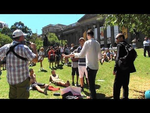Dialogue, Conviciton & Opposition in Melbourne, Australia | American Street Preacher Kerrigan Skelly