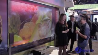Hisense 4k Laser Cast Short Throw Projector at CES 2017