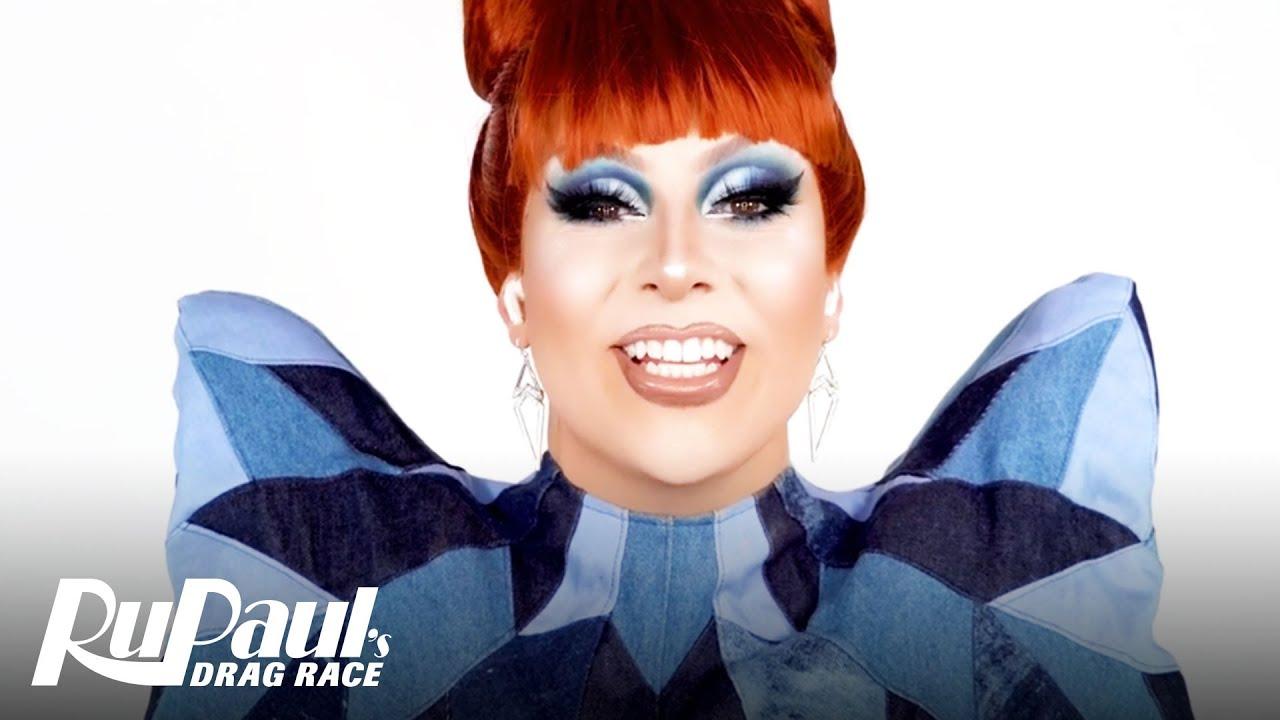 Jan's Blue Jean Baby Look 💙 Ruvealing the Look | RuPaul's Drag Race AS6