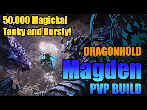 [Dragonhold] Magicka Warden PvP Build - 50,000 Magicka, Incredible Mitigation, Huge AOE Burst