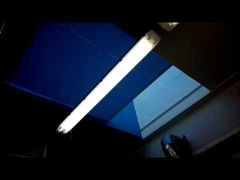 Motorized pleated blinds