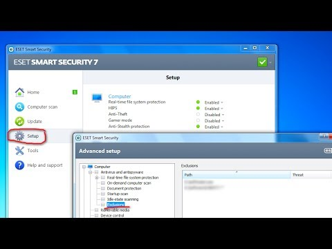 How to add Files to ESET Smart Security 7 Exceptions list
