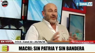 Uno mas Uno Tres programa completo 20/06/2018 Santiago Cúneo 1+1=3