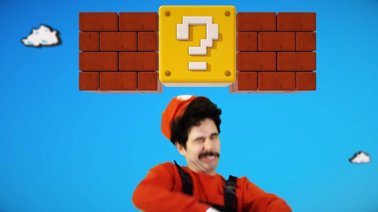 Super Mario HITS the block