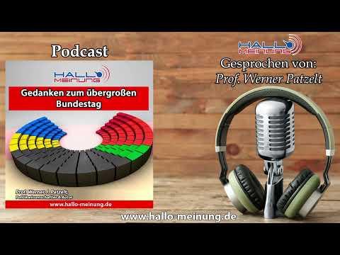 Podcast: Gedanken zum übergroßen Bundestag