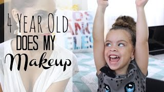 4 year old does my makeup bloopers