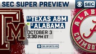 SEC Super Preview: No. 13 Texas A&M at No. 2 Alabama | CBS Sports HQ