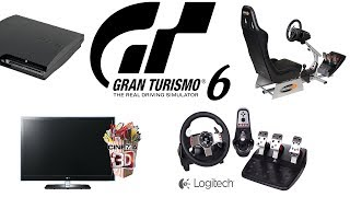 Gran Turismo 6 - GT6 Gameplay with Logitech G27 Racing Wheel & Homemade PlaySeat