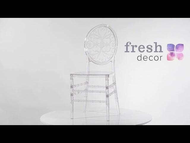 Winter pattern прозрачный стул для дома и ресторана из оргстекла удобный и качественный стул
