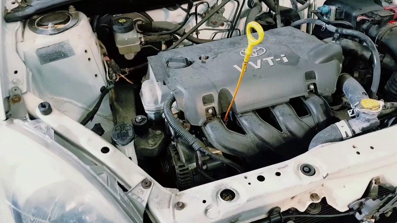 2002 toyota echo 1 3 litre alternator belt drive belts adjusting alternator belt squeal bottom bolt [ 1280 x 720 Pixel ]