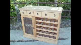Pine Sideboard Wine Rack