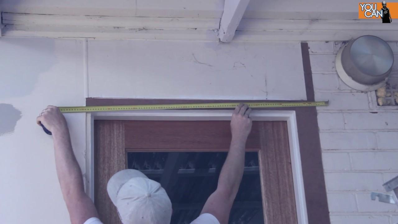 How To Install Door Trimcasing Backyard Renovation Part 3 Youtube