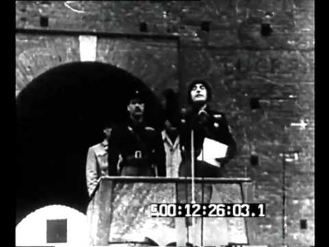 Milano - Pavolini passa in rassegna un battaglione della Brigata 'Resega' in partenza per il