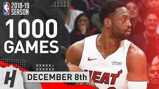 Dwyane Wade HISTORIC Highlights Heat vs Clippers 2018.12.08 - 25 Pts, 6 Ast, 5 Threes!