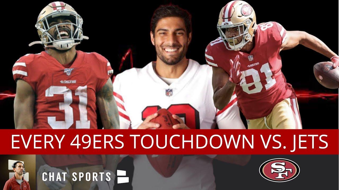 49ers Highlights: Every Week 2 TD vs. Jets By Jimmy G, Jordan Reed, Raheem Mostert & Jerick McKinnon