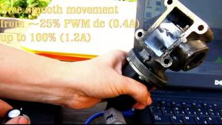 Pierburg EGR solenoid valve - proper and faulty operation