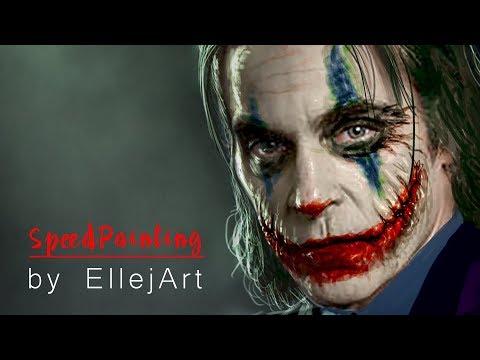 Joker - Joaquin Phoenix | Speed Painting by Ellejart