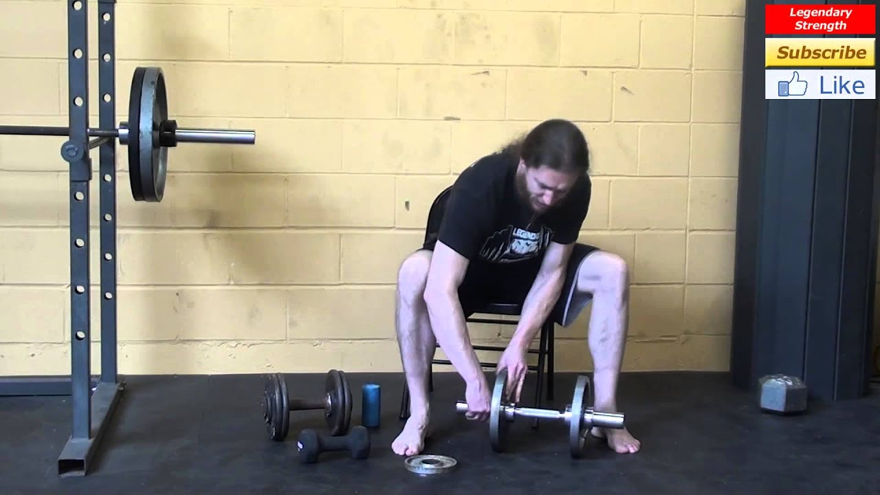 how to work out your forearms with dumbbells