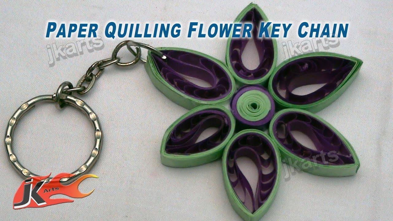 Diy Paper Quilling Flower Keychain Jk Arts 165 Youtube