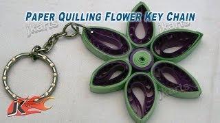 DIY Paper Quilling Flower Keychain JK Arts 165