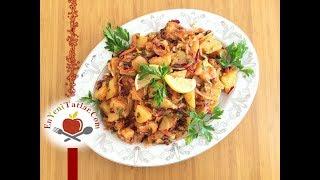 Mor Lahanalı Havuçlu Patates Salatası Tarifi | Patates Salatası Tarifi | Sebzeli Patates Salatası