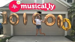 EMMA'S REAL REACTION TO HITTING 1 MILLION ON MUSICALLY! WE GIVE HER A SURPRISE!