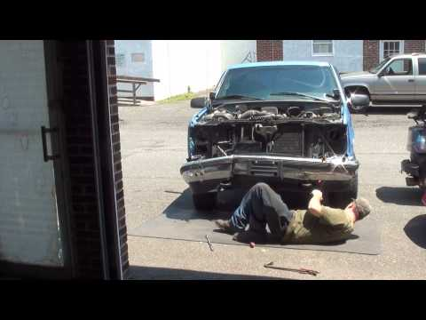GMC 1500 front end collision repair