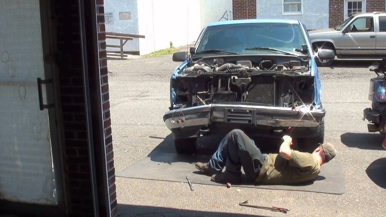 GMC 1500 front end collision repair - YouTube