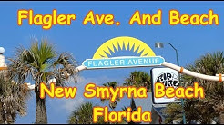 Flagler Ave  And Beach New Smyrna Beach Florida