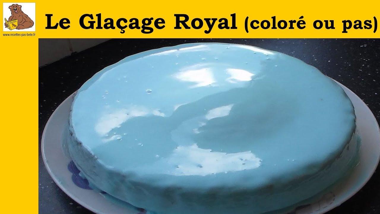 Le Glacage Royal Colore Ou Pas Recette Facile Et Rapide Youtube