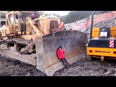 VÍDEO para NIÑOS | ENORMES MEGA MÁQUINAS de CONSTRUCCIÓN CATERPILLAR REALES BIG CAT