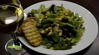 #Зеленый Салат с Тунцом .#Греческая кухня