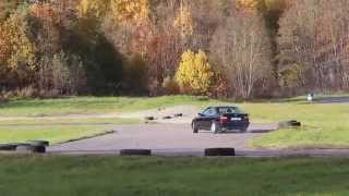 BMW e36 328i drift practise with LSD (limited slip differential) Rapla 2013