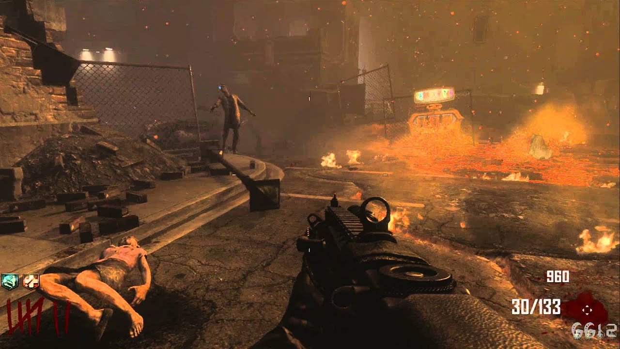 Cod Black Ops 2 Zombies Green Run Town Survival Level 1 10