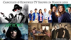 TV Shows cancelled & renewed in March 2019 #TVNews