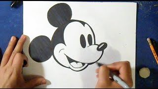Cómo dibujar a Mickey Mouse 4 (Clásico) | How to draw Mikey Mouse