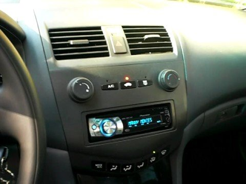 07 Honda Accord Aftermarket Radio With Ipod Usb Youtube