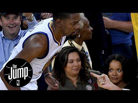 Kevin Durant Responds To Rihanna Following NBA Finals Win   The Jump   ESPN