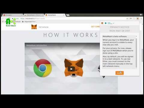 How To Use MetaMask Wallet And Get Free Ethereum At Rinkeby Authenticated Faucet ᴴᴰ | Areef Share