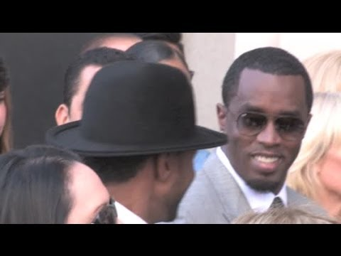 P DIDDY and USHER share laughs at BABYFACE Hollywood star ceremony