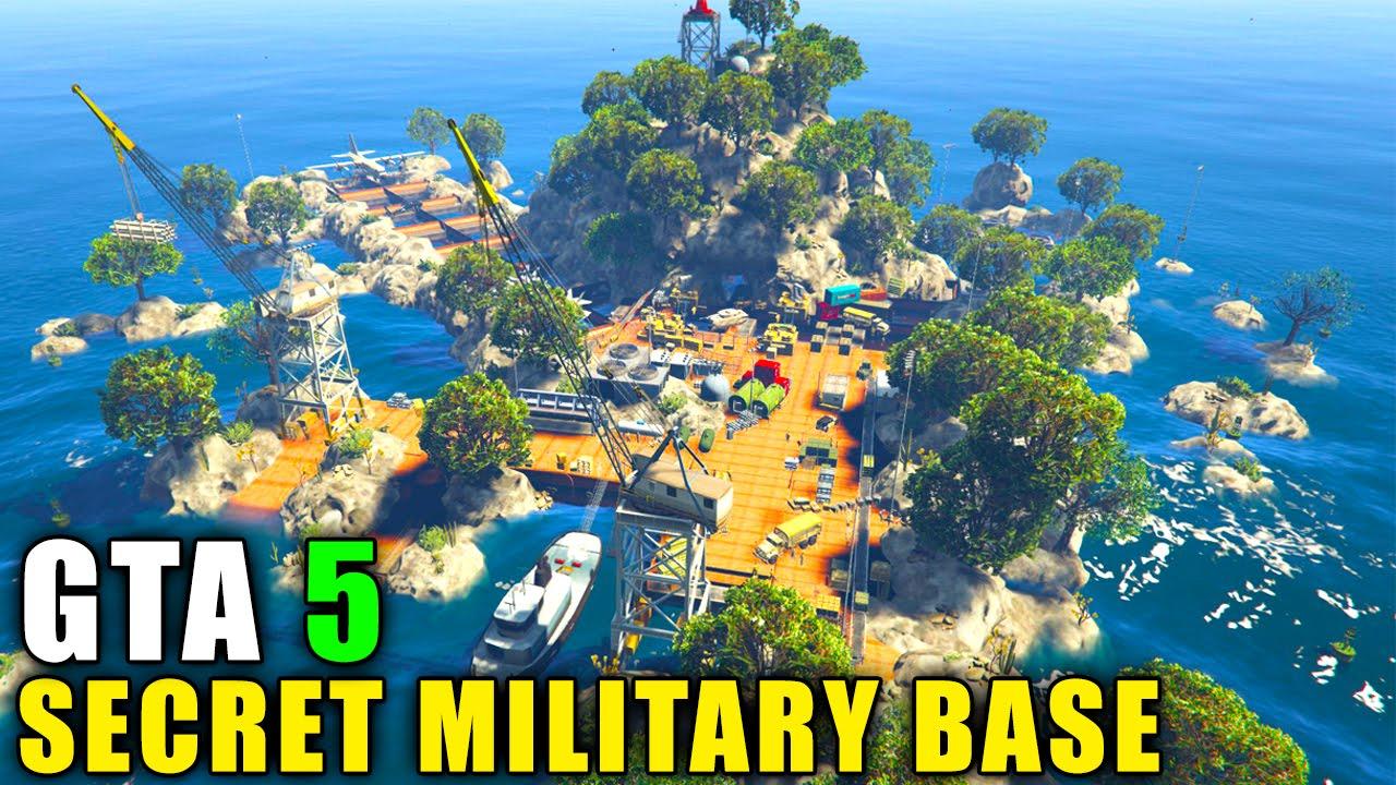 Gta 5 map gta 5 pc mods secret military island base gta 5 map mod