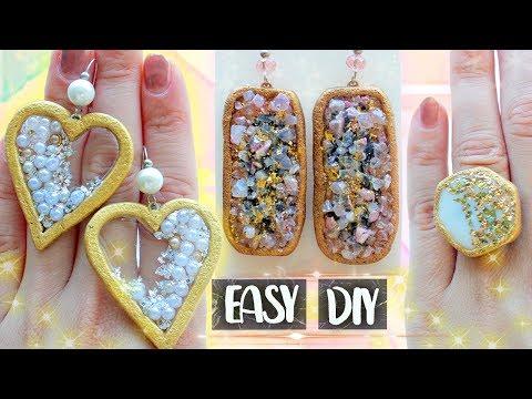3 EASY DIY Jewelry with EPOXY RESIN ❤ Stylish Earrings