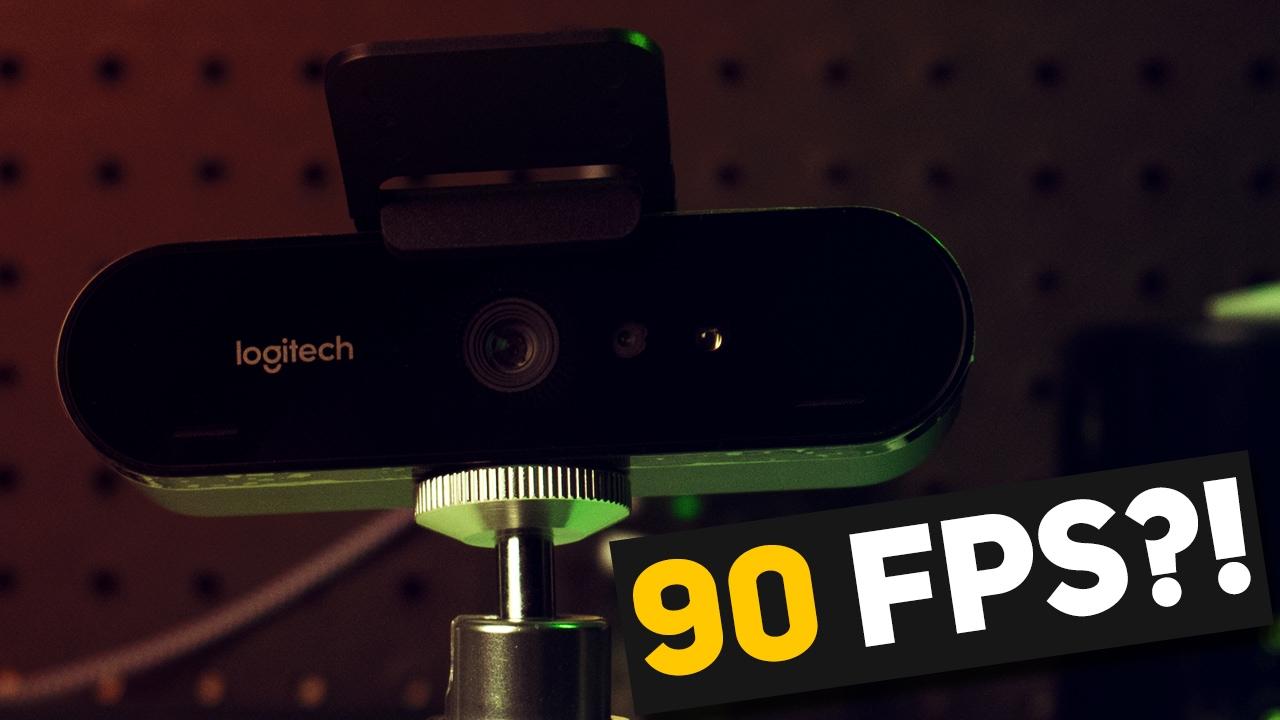 90 FRAMES PER SECOND?! - Logitech BRIO 4K Pro Webcam 720p 90fps Test w/  Slowmo via OBS Studio