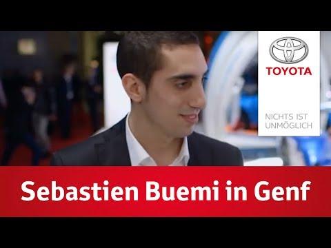 Sebastien Buemi auf dem Autosalon in Genf   Toyota Hybrid Racing Team