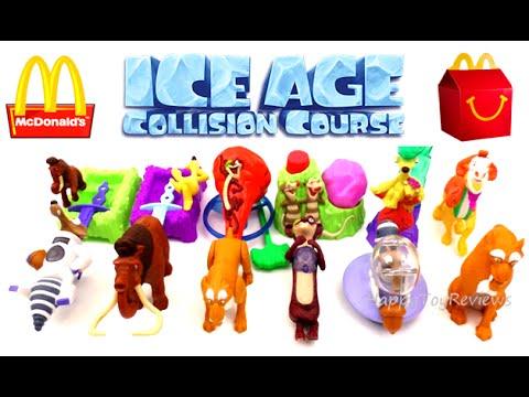 2016 mcdonalds ice age 5 movie happy meal toys set 12 ice
